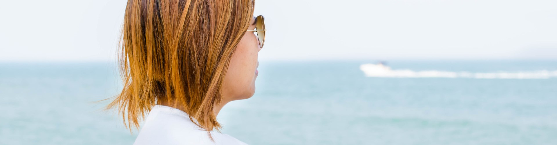 Woman looking at ocean